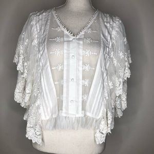 kas new york Tops - Kas New York Lace Blouse Sz M MSRP $129